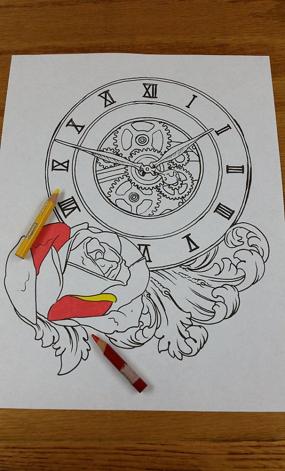 Clock With Rose And Filigree Tattoo Flash By Lucky13tattoonc 2 00 Filigree Tattoo Filagree Tattoo Clock Tattoo,Simple Corner Border Designs For Projects