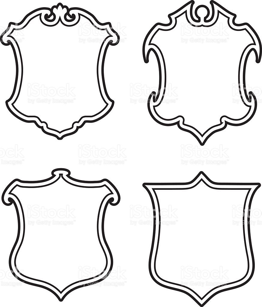 Shield Outline Coat Arms Images Coat Of Arms Wedding Crest