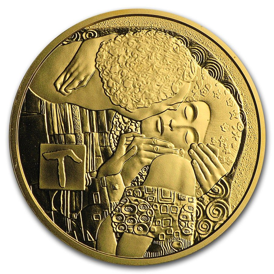 2016 10gram Austrian Klimt His Women The Kiss 986 Gold 50 Proof Coin Lpm Luciuspreciousmetals Buyback Gold Mint Coins Coins Gold Coins Proof Coins