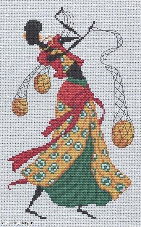 0 point de croix femme africaine avec filets - cross stitch african ...