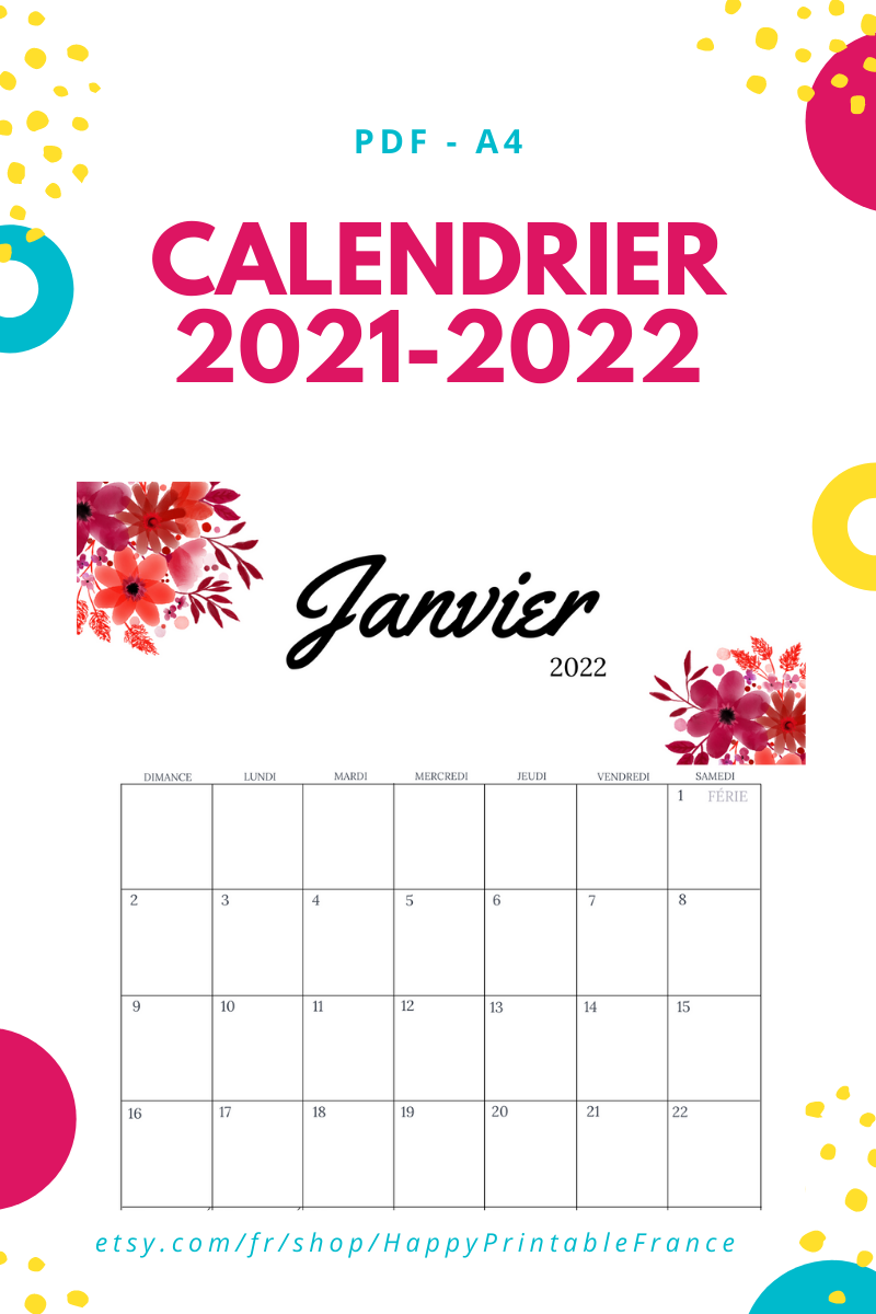 Calendrier 2021 à imprimer   Calendrier mensuel 2021   Agenda 2021