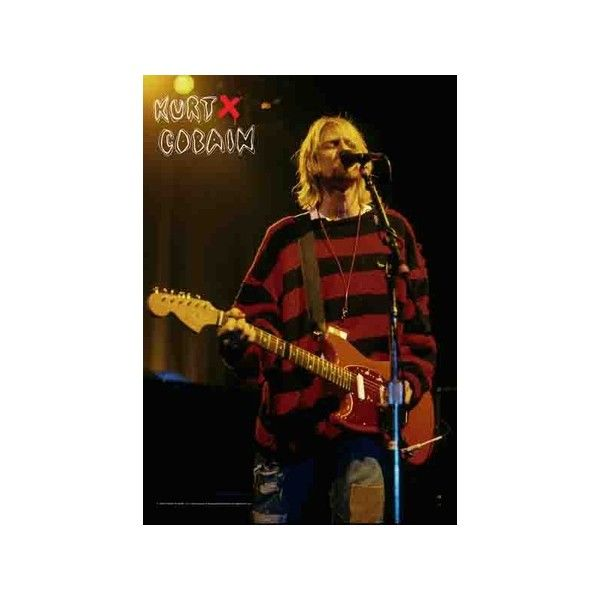Kurt Cobain - Stage Fabric Poster ($22) ❤ liked on Polyvore
