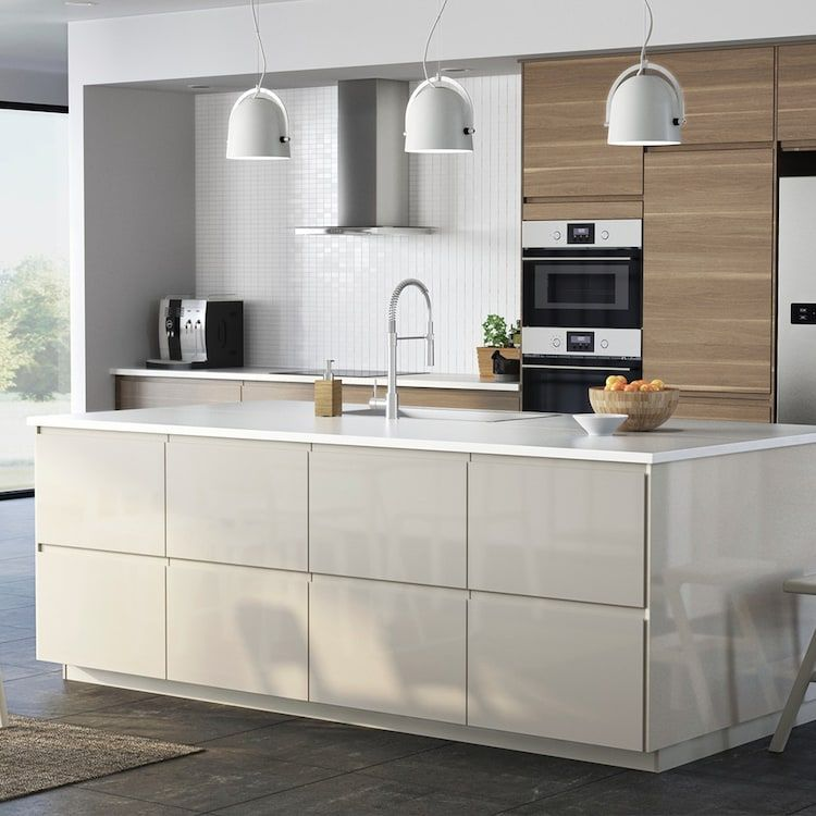 Page Finitions Cuisine Voxtorp Beige Brillant Beige Kitchen Kitchen Design Modern Kitchen