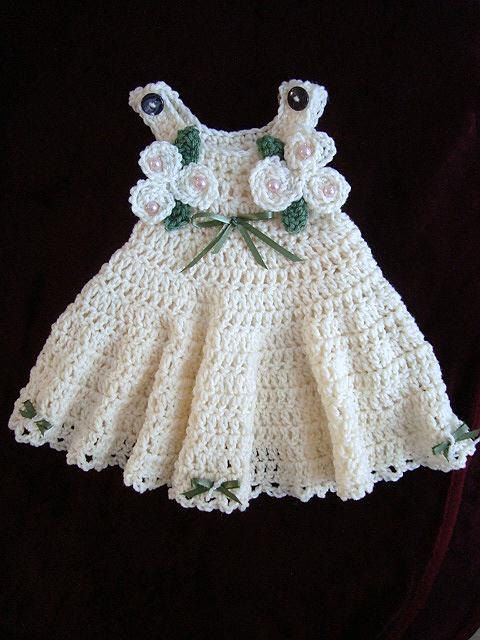 CROCHET PATTERN, Baby Dress - Girls Dress - newborn to age 12 ...