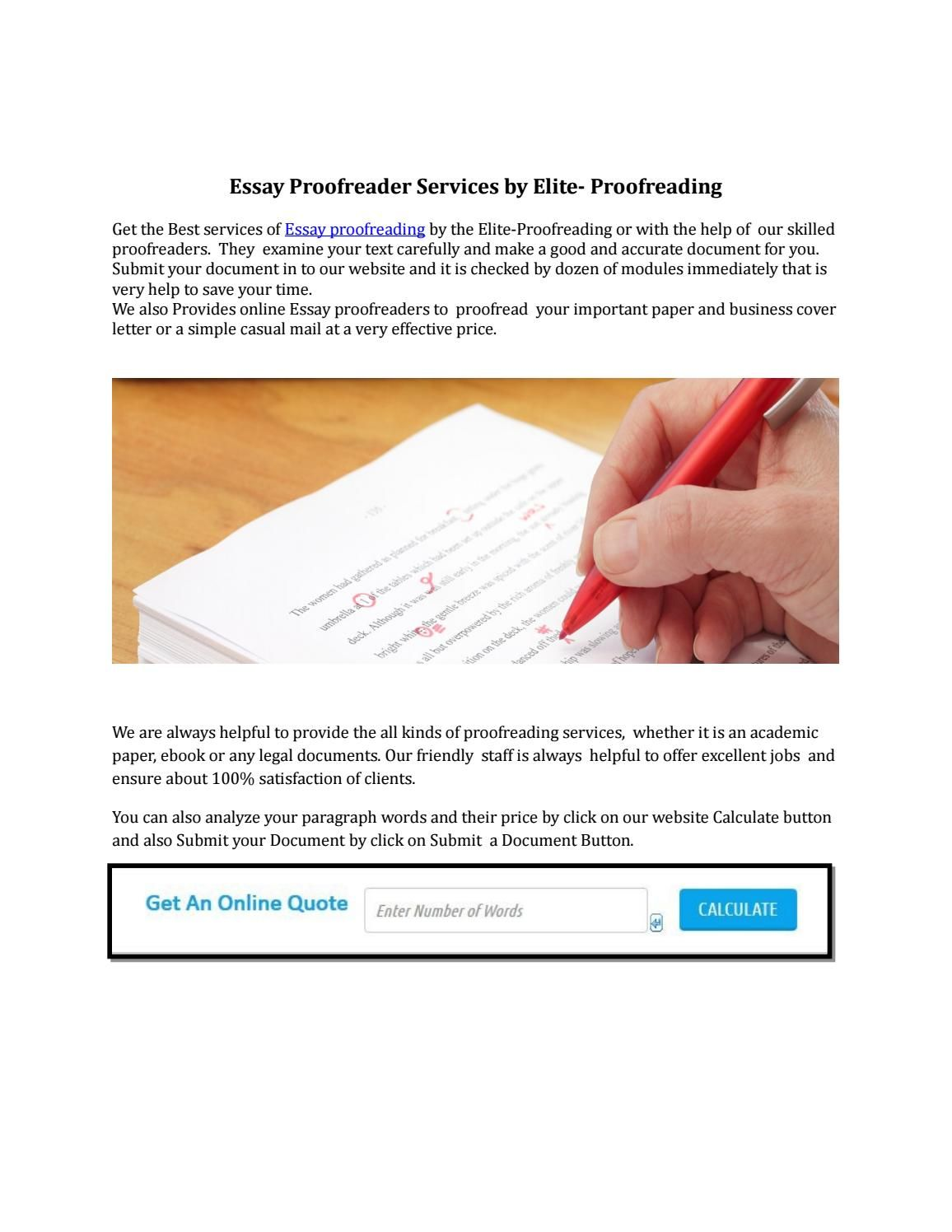 Essay proofreader | Essay Proofreaders | Pinterest