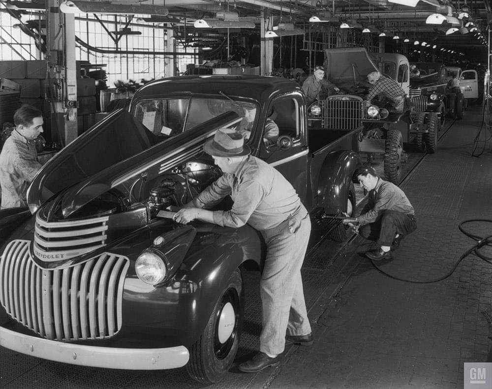 1945 Chevrolet Pickup Assembly Line, Norwood, Ohio Chevy