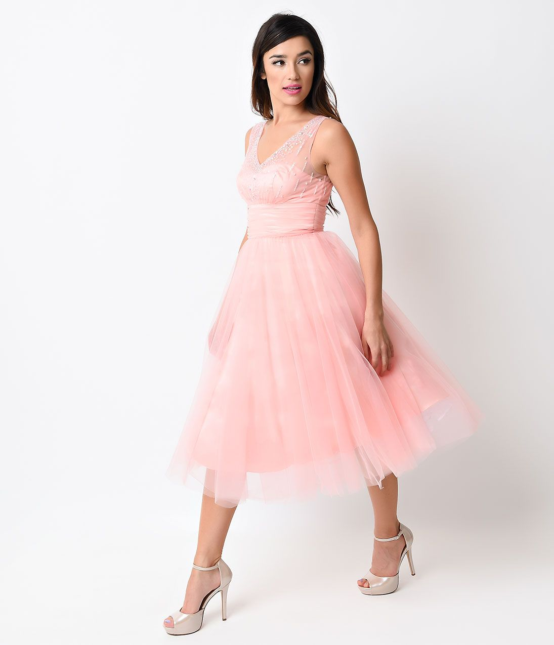 1950s Dresses, 50s Dresses | 1950s style, Tulle prom dress and 1950s ...