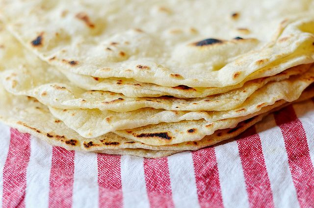 Healthy Homemade Tortillas - these are FANTASTIC!!! We will NEVER buy tortillas again!! It only takes a few minutes to make them, let the dough rise, the cook them up  - total working time 15 minutes. SOOOO worth it!!