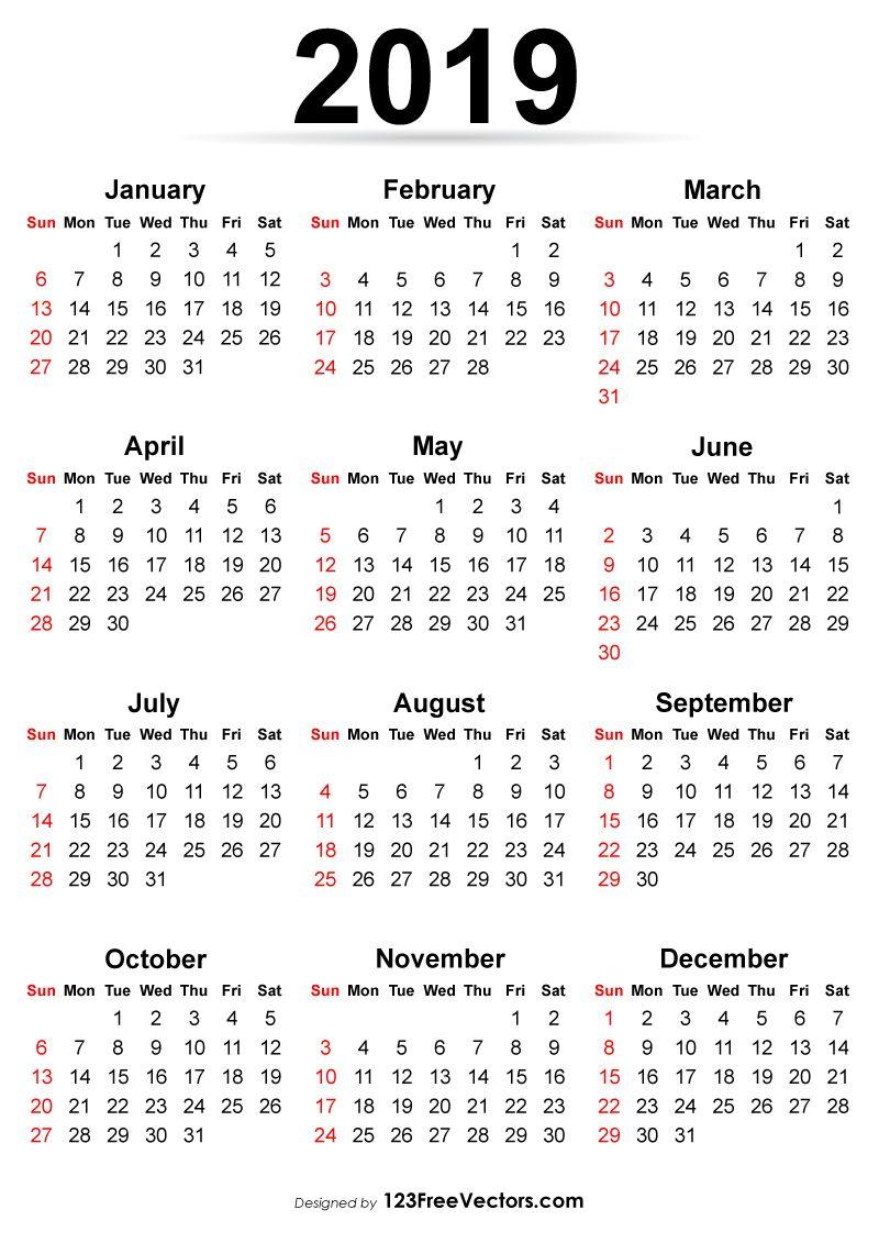 Printable Calendar 2019 Ide Menggambar Gambar Ide