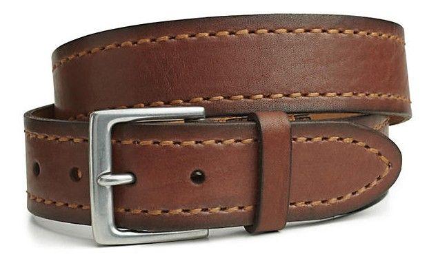49c30186ef8 Cinturón Dockers Heavy Stitch Bridle 100% piel auténtica de color marrón  por sólo 15