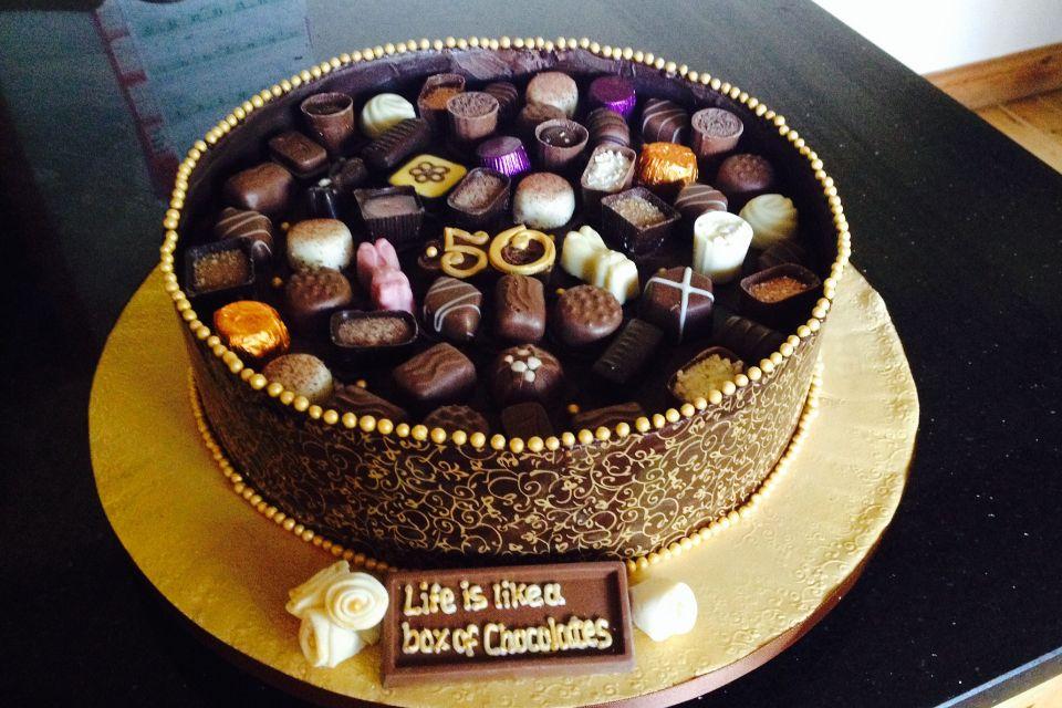 Guylian Chocolate Birthday Cake