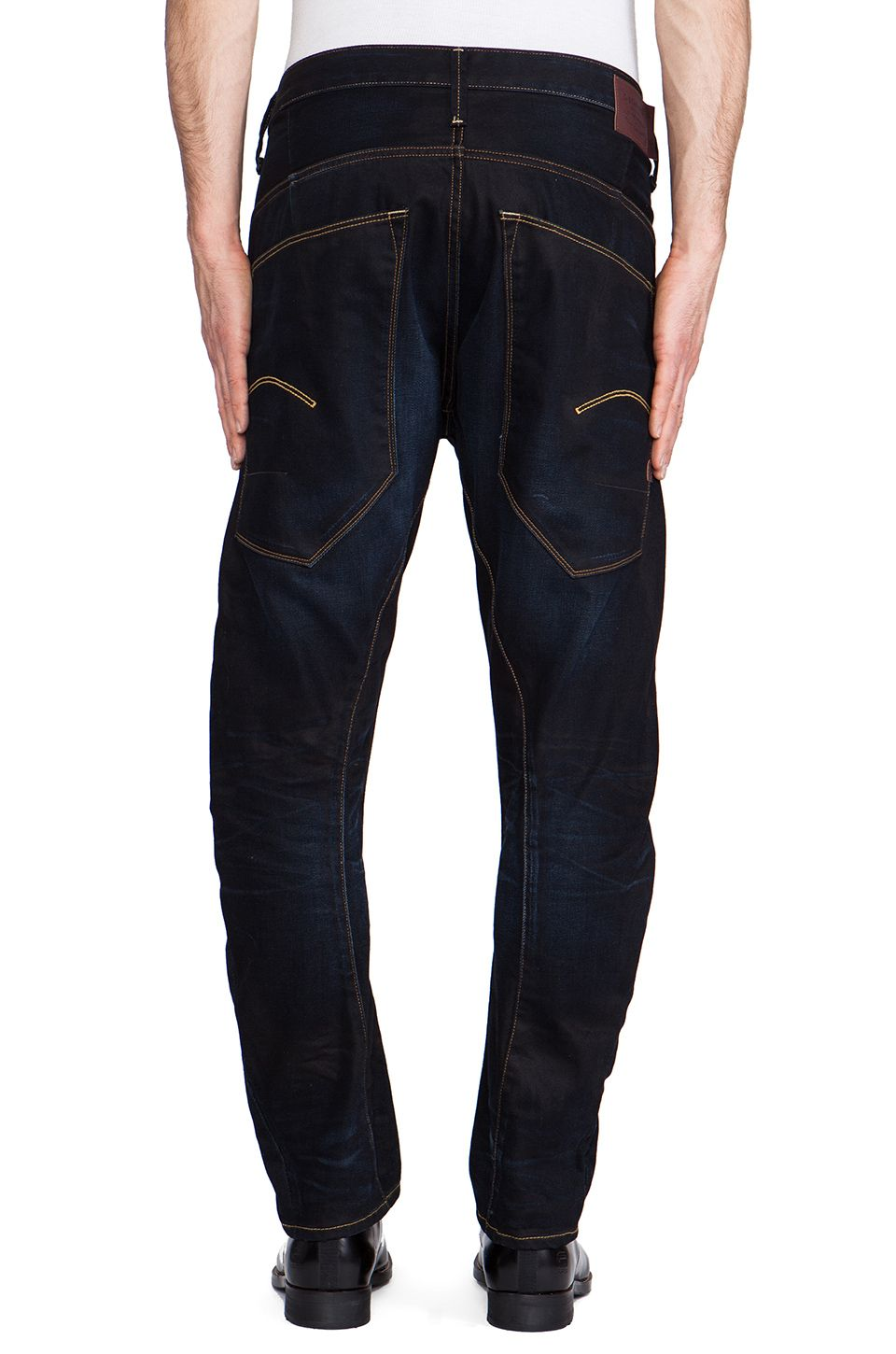 558ccf951d G-star raw Type C 3d Loose Tapered Lexicon Denim in Blue for Men (Indigo  Aged)