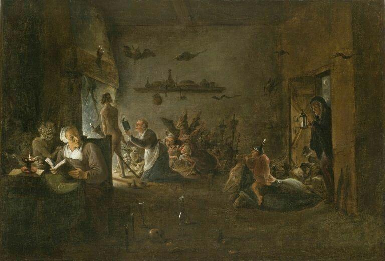 Preparación del sabat de las brujas - David Teniers II | Painting, Witch,  Sabbats