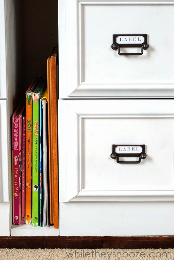 File Cabinet Makeover   Glue Picture Frames On Drawers. Quick/Inexpensive  Face Lift