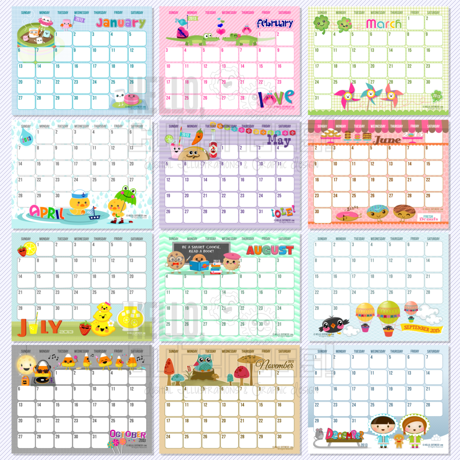 Monthly Calendars  You Are Here Home  Products   Text