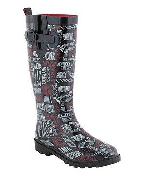 Black States Rain Boot Zulily