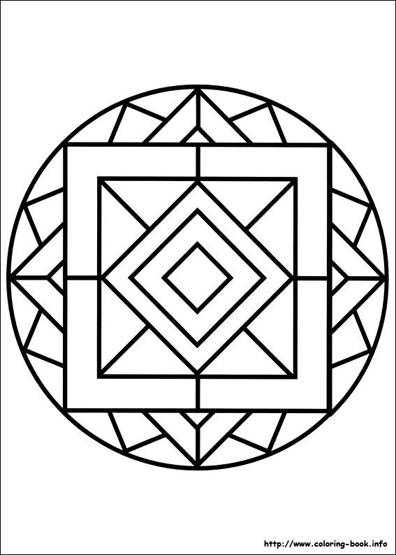 easy geometric design coloring pages - photo#45