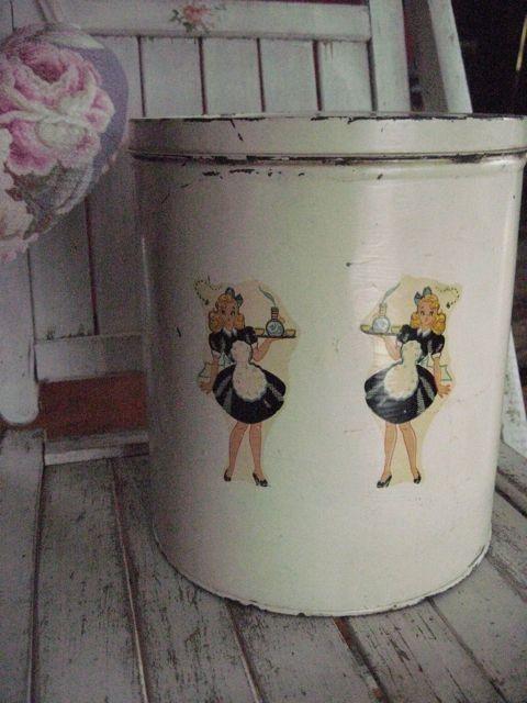 Vintage kitchen canister