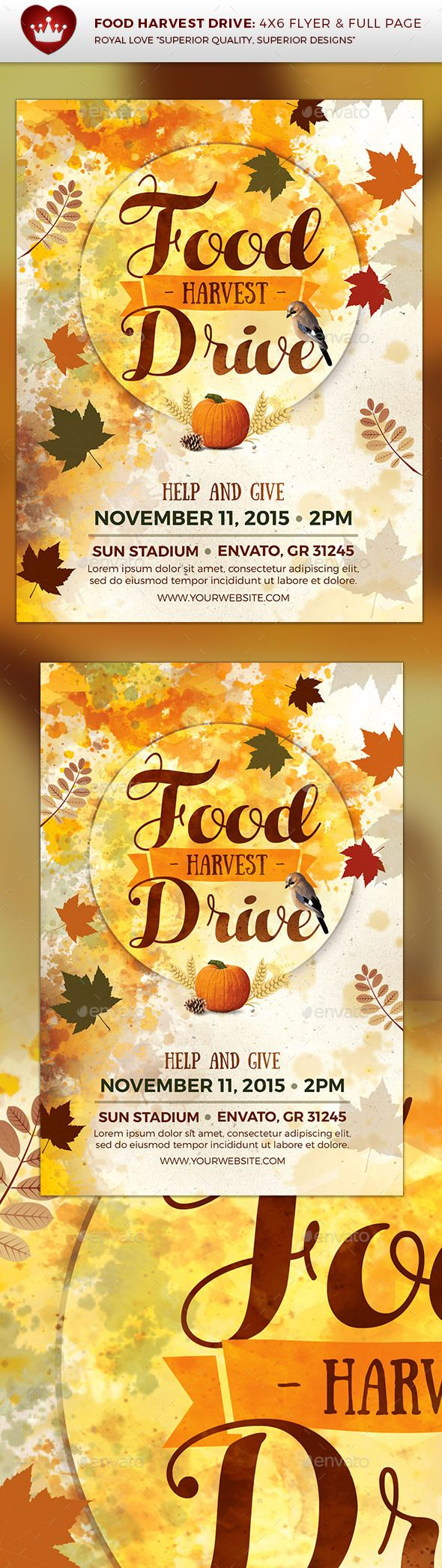 Food Harvest Drive Flyer – Help Wanted Flyer Template