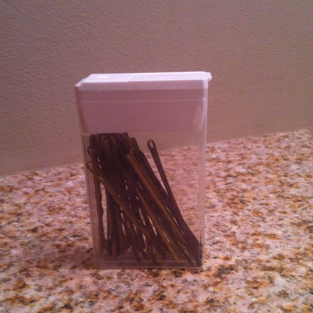 Store bobby pins in a Tic-Tac box | Style, hair & Beauty | Pinterest