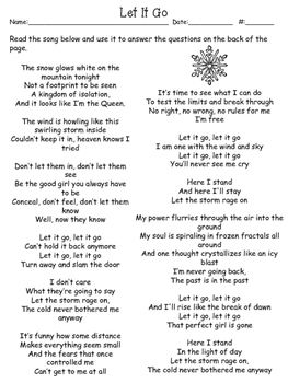 Freebie Let It Go A Simile And Metaphor Worksheet Figurative