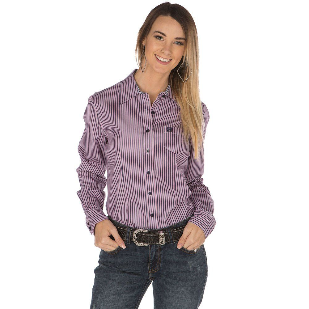 d4ed883ea Women's Cinch Purple Stripe Button Shirt | Ladies Clothing in 2019 ...