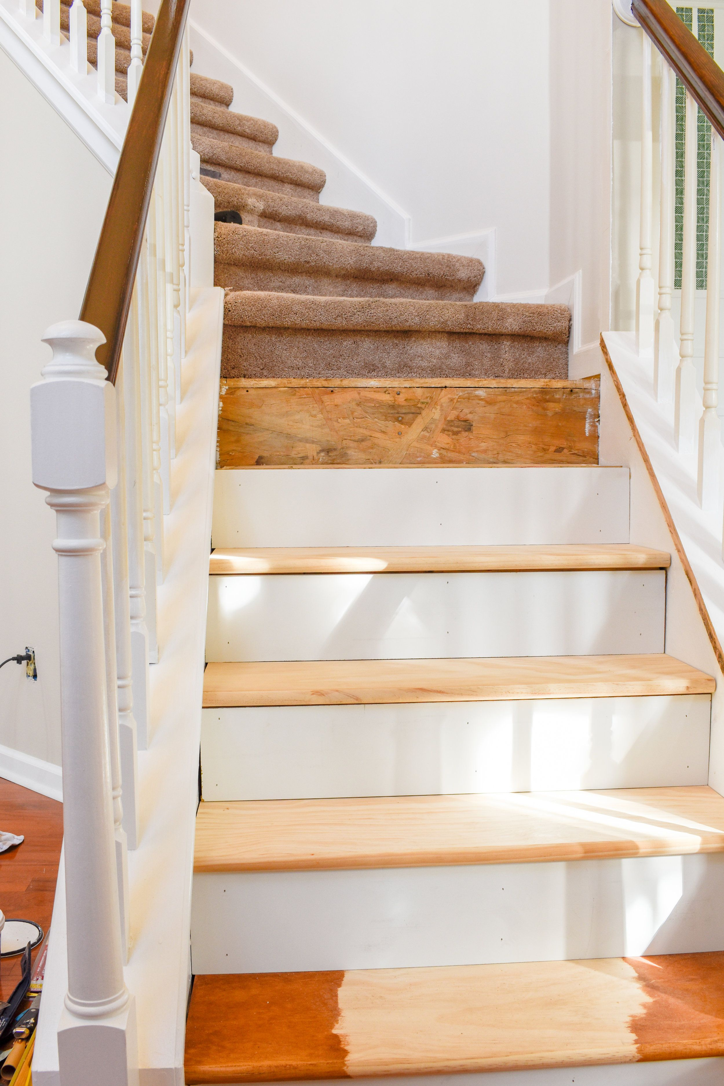 Diy Hardwood Staircase Makeover Replacing Carpet With