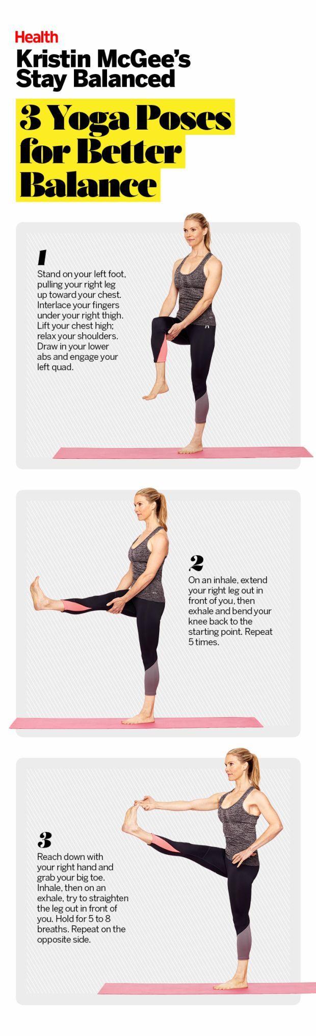 3 Yoga Poses For Better Balance Yoga Poses Yoga Benefits Yoga For Beginners
