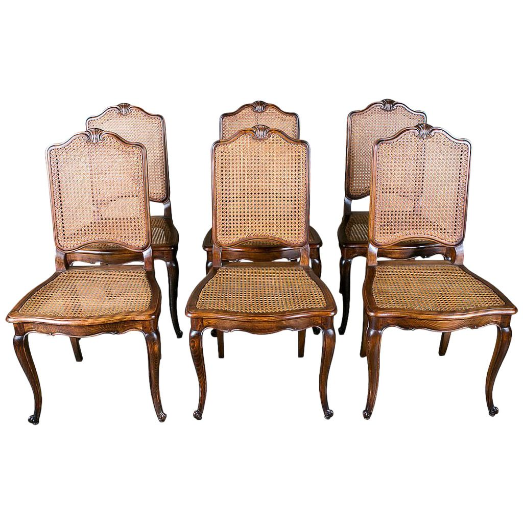 french dining chairs. Set Of 6 French Louis XV Style Cane Dining Chairs | From A Unique Collection Antique And Modern Room At\u2026
