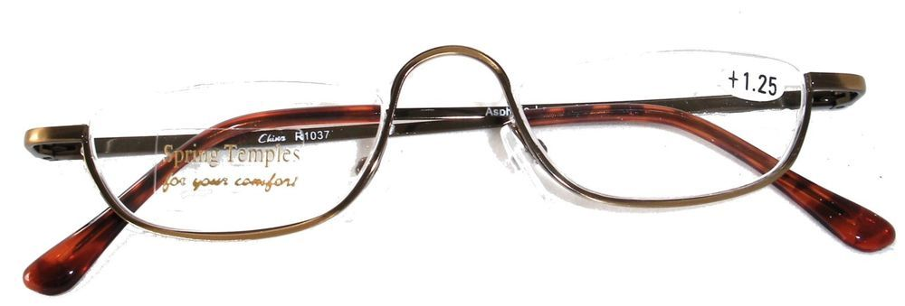 997ef231c0e HALF RIM HALF FRAME READING GLASSES - ANTIQUE SILVER