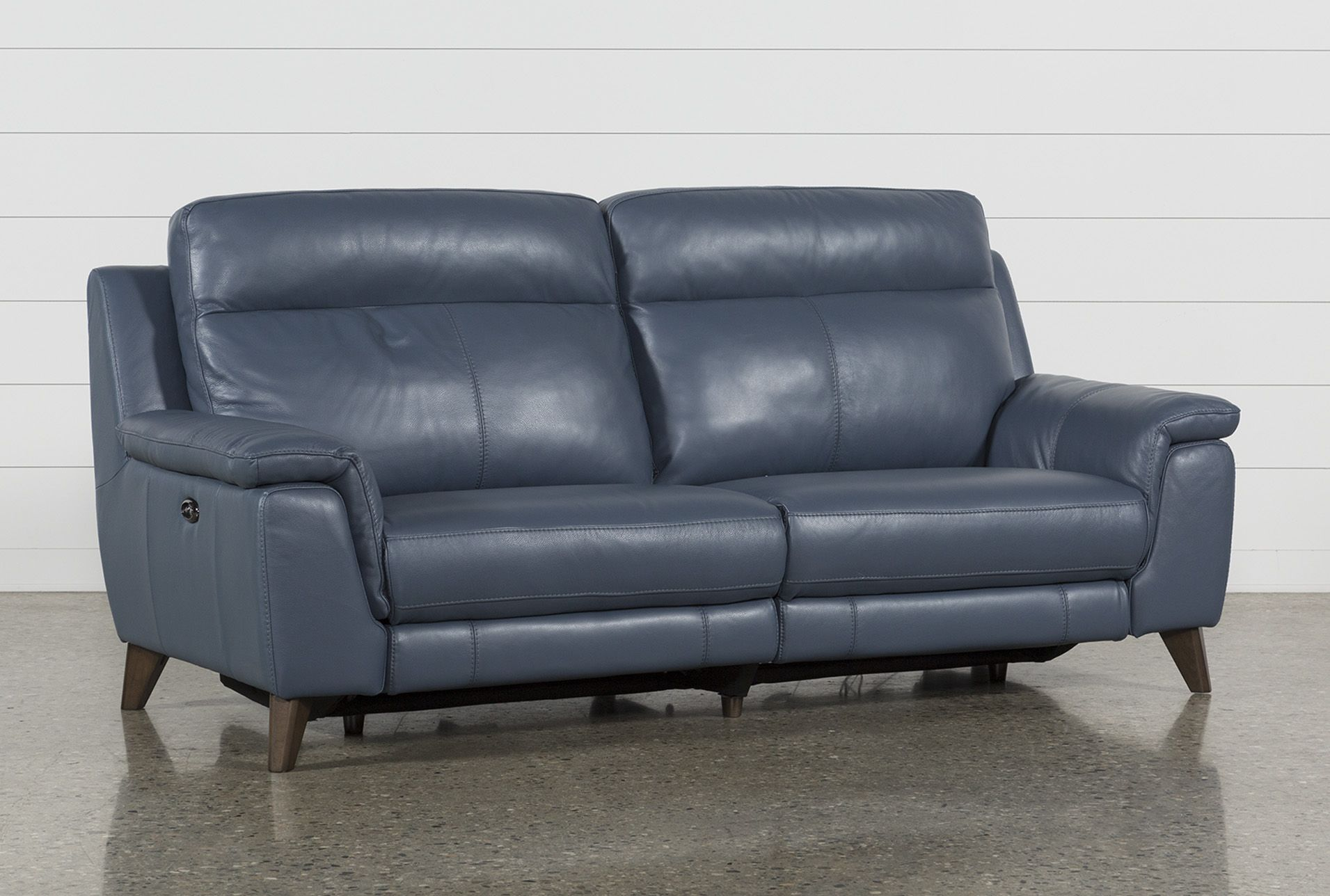 Incredible Dual Power Reclining Sofa With Usb Port Moana Blue 1095 Short Links Chair Design For Home Short Linksinfo