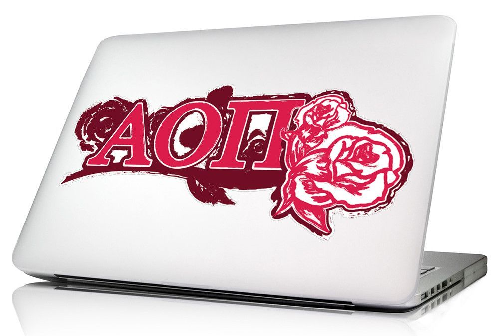 Alpha Omicron Pi 13 x 5.5 Multi Surface Decals