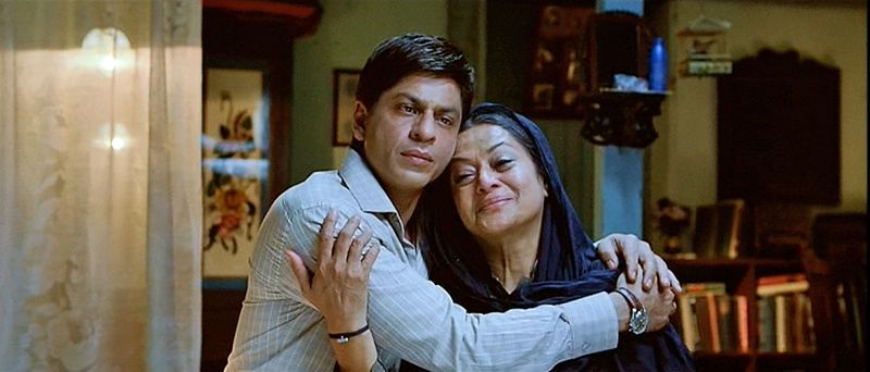 Shah Rukh Khan and Zarina Wahab in *My Name is Khan* (2010) | Celebrating Mother's Day: Movie Moms of Shah Rukh Khan #HappyMothersDay - Falling in Love with Bollywood http://www.fallinginlovewithbollywood.com/2015/05/celebrating-mothers-day-movie-moms-of-shah-rukh-khan.html?utm_campaign=socialmedia&utm_source=pinterest.com&utm_medium=filwbollywood
