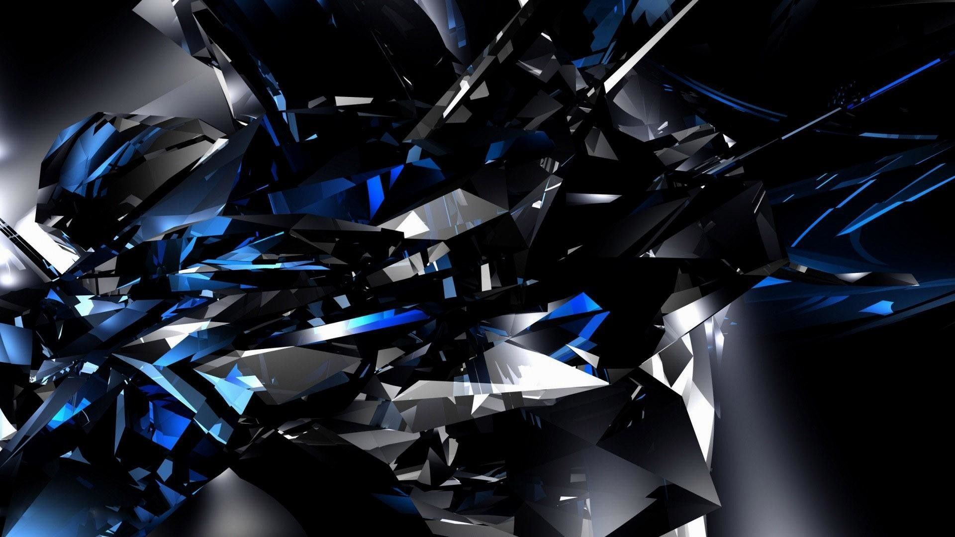 1920x1080 Hd Black And Blue Wallpaper Black And Blue Background Black And Blue Wallpaper Blue Crystal Wallpaper
