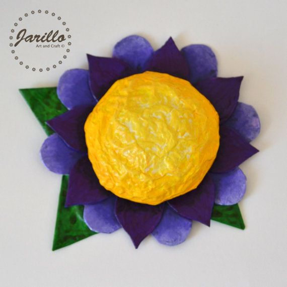 Flower Wall Hanging Decor - Purple Flower Gift - Spring Decorations ...