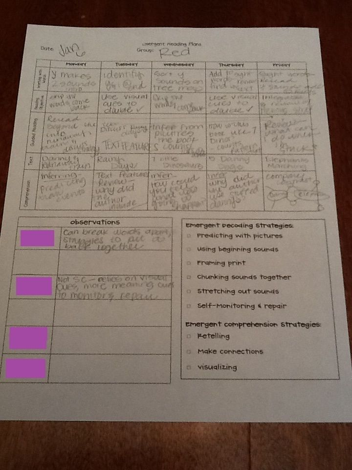 Made In The Shade In 2nd Grade Guided Reading Plans Template