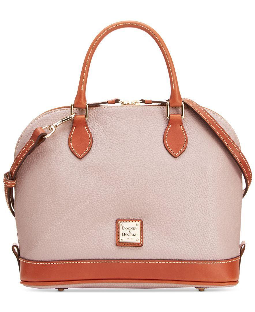 Dooney & Bourke Pebble Zip Zip Satchel - Handbags & Accessories - Macy's