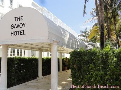 Savoy Hotel In South Beach Miami Florida On Ocean Drive