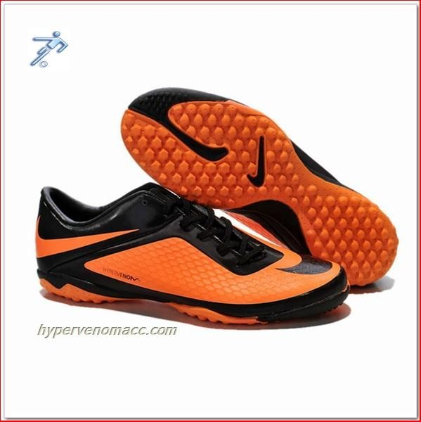best service cf449 29613 Soccer Shoes Field Turf Nike Hypervenom Phantom TF ACC Junior Shoes Black  Citrus