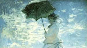 Mujer con sombrilla.  Cuadro de Monet. Autor: Claude Monet Año: 1875.