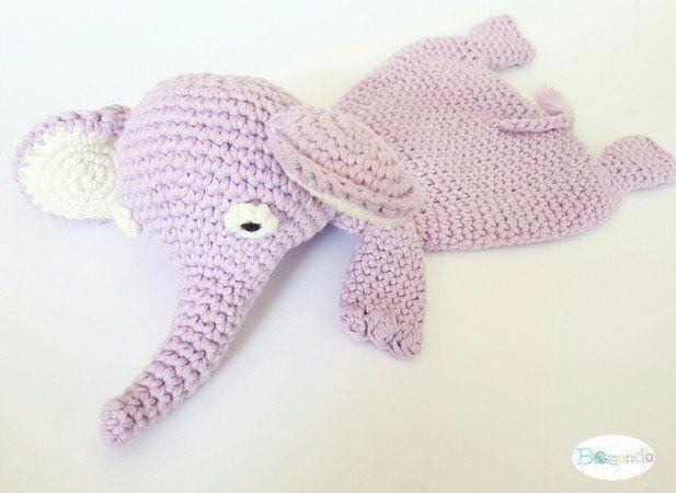 Photo of Schmusetuch Elefant Ottilia, Häkelanleitung, für Babys und Kleinkinder, schnel… – Wellecraft