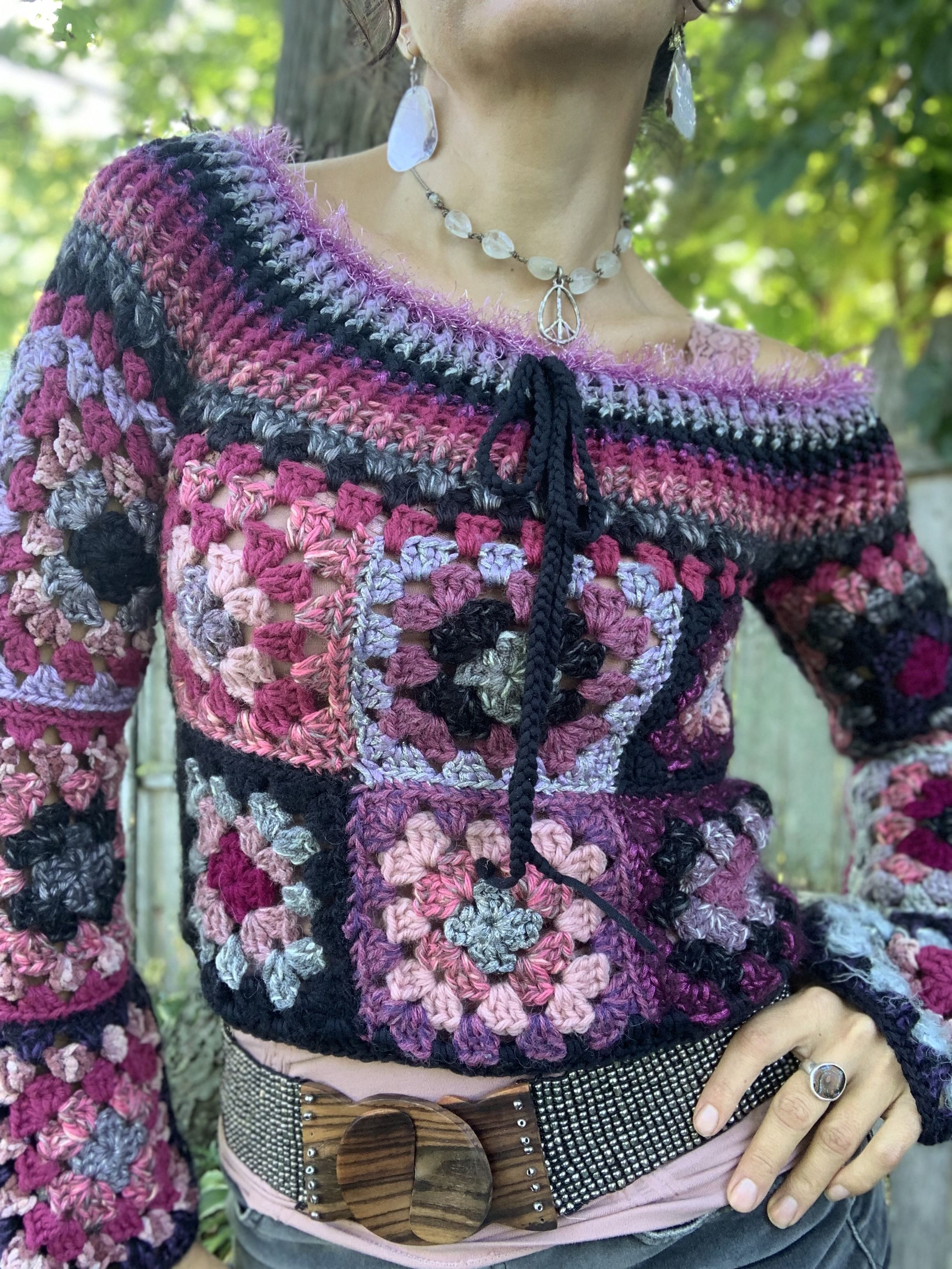Retro Granny Square pattern by Starlily Creations