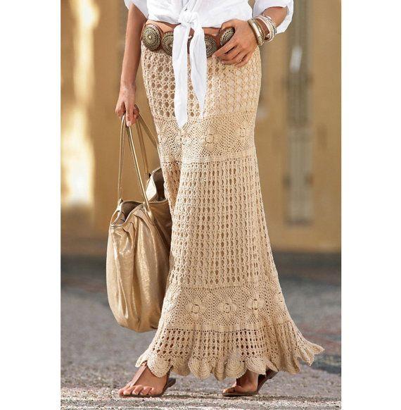 Maxi crochet skirt PATTERN, crochet TUTORIAL in English (written + ...