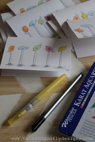 watercolor easter cards tutorial cards pinterest watercolor