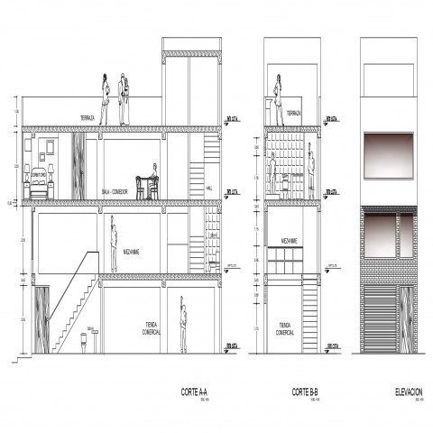 Apartment Autocad Floor Plan And Architecture Drawing In 2020 Story House Building A House Residential Apartments