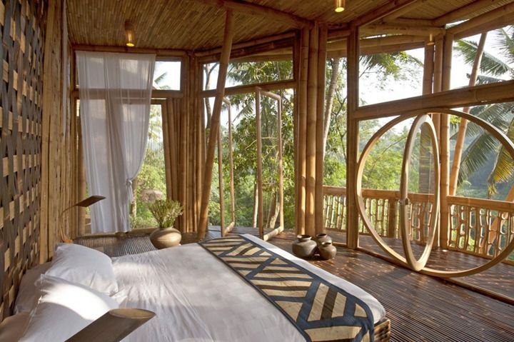 Bamboo Houses In Bali Hopefully More Investors Will Be Inspired To Use Bamboo Ecofriendly And Just An Am Bamboo House Design Bamboo House Country House Decor