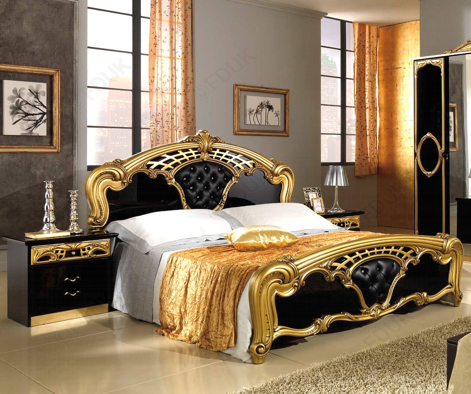 White And Gold Bedroom Furniture With