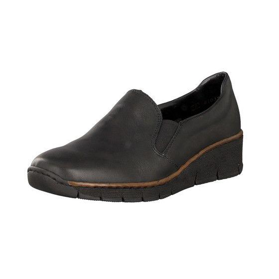 Rieker Damen Slipper blau N0360 14   schuhe   Schuhe damen