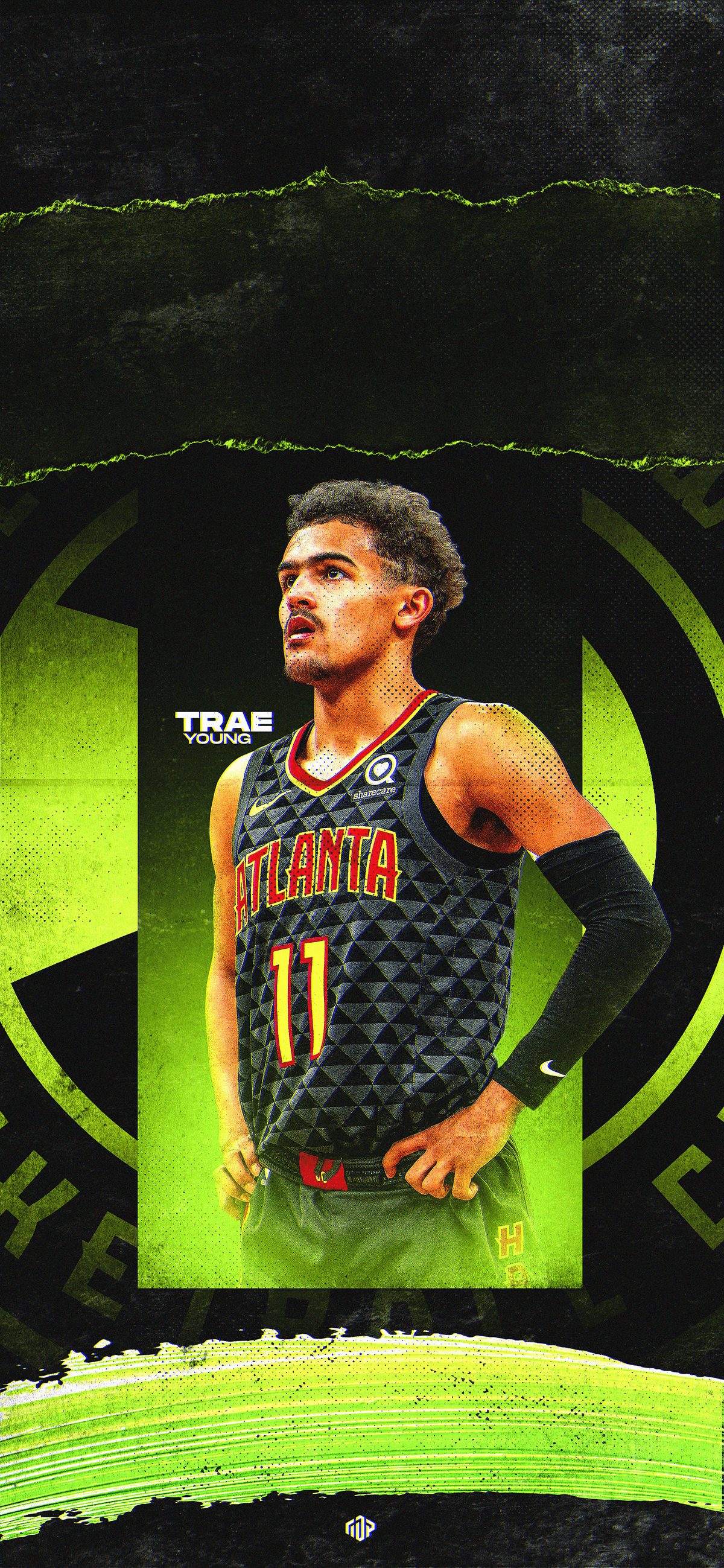 Trae Young Wallpaper Wednesday Graphic On Behance Nba Pictures Nba Wallpapers Young