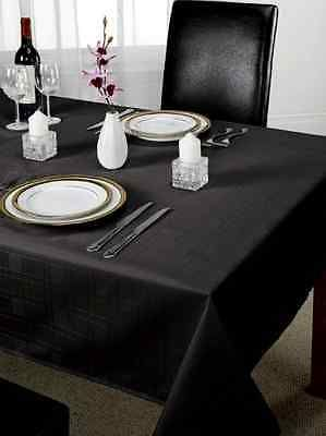 Chequers Check Jacquard Tablecloth In Various Colours, Shapes U0026 Sizes
